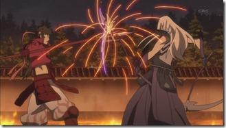 Sanada fighting Mitsuhide