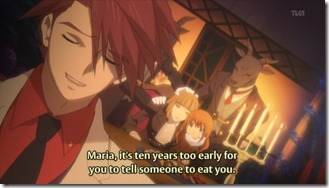 Maria, it's ten years too early for you to tell someone to eat you